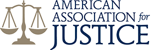 Logo Recognizing Steinberg Injury Lawyers's affiliation with the American Association of Justice