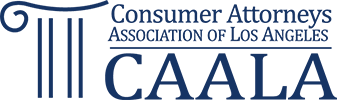 Logo Recognizing Steinberg Injury Lawyers's affiliation with the Consumer Attorneys Association of Los Angeles