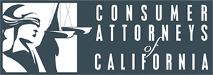 Logo Recognizing Steinberg Injury Lawyers's affiliation with the Consumer Attorneys of California